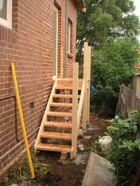 Sydney Wide Carpenters Outdoor Timber Stairs Staircase Treated Pine Or Merbau